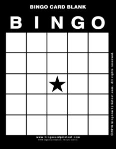 Bingo Card Blank 11