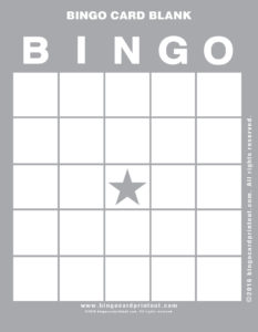 Bingo Card Blank 9