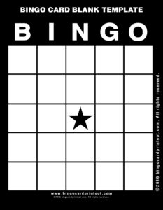 Bingo Card Blank Template 11