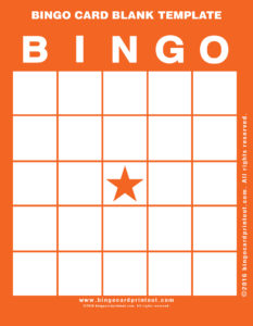 Bingo Card Blank Template 2