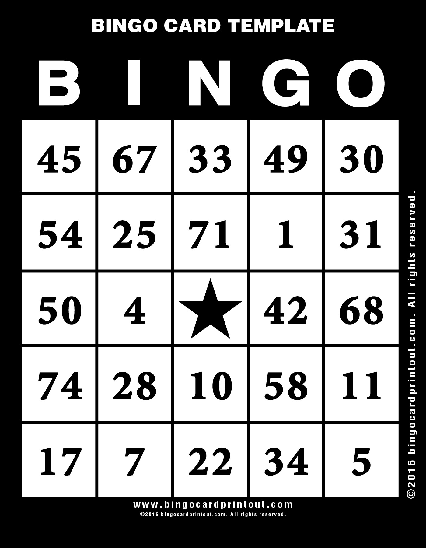 Choose for our large selection for your next bingo card template .