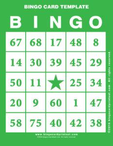 Bingo Card Template 4