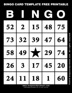Bingo Card Template Free Printable 11