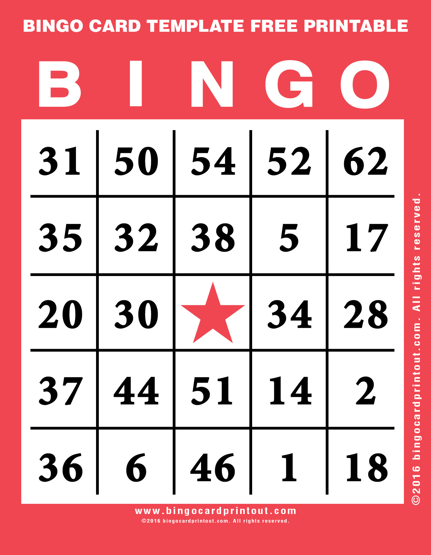 It is a graphic of Bewitching Bingo Templates Free Printable
