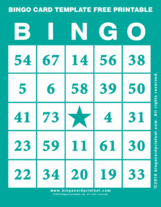 Bingo Card Template Free Printable 5