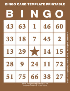 Bingo Card Template Printable 10