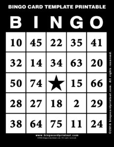Bingo Card Template Printable 11