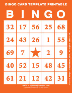 Bingo Card Template Printable 2