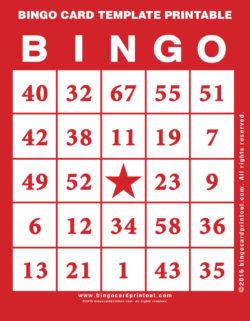Bingo Card Template Printable