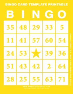Bingo Card Template Printable 3