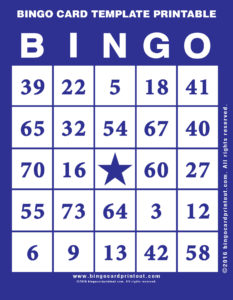 Bingo Card Template Printable 6