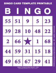 Bingo Card Template Printable 7