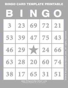 Bingo Card Template Printable 9
