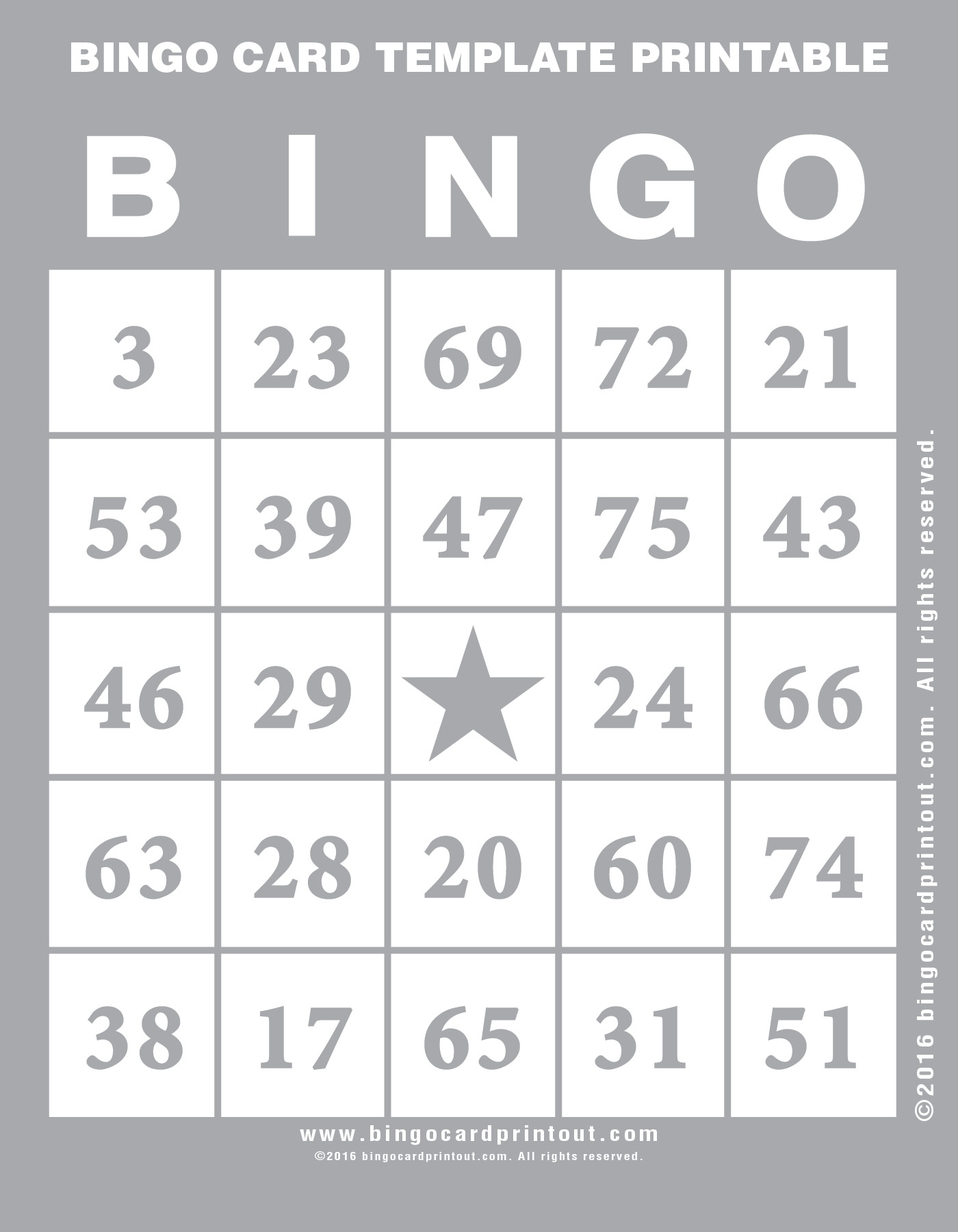 Look no further for your next bingo card template printable .