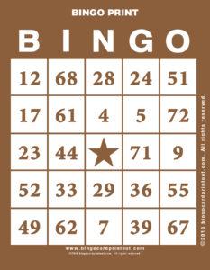 Bingo Print 10