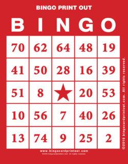 Bingo Print Out