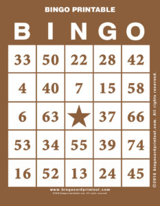 Bingo Printable 10