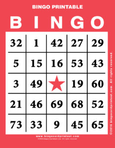 Bingo Printable 12