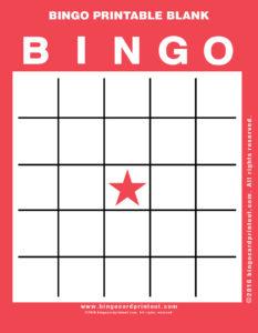 Bingo Printable Blank 12