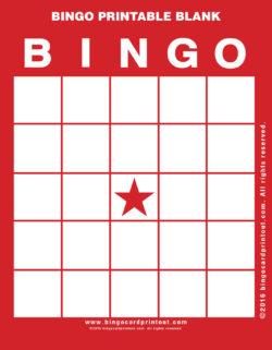 Bingo Printable Blank