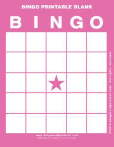 Bingo Printable Blank 8