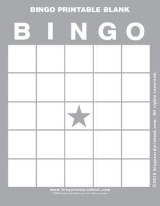 Bingo Printable Blank 9