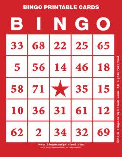 Bingo Printable Cards