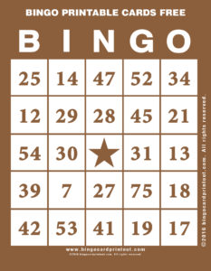 Bingo Printable Cards Free 10