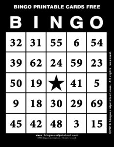 Bingo Printable Cards Free 11