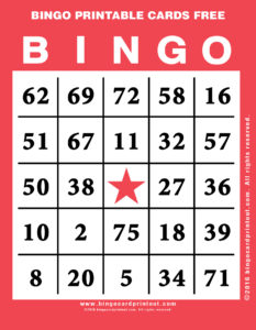 Bingo Printable Cards Free 12