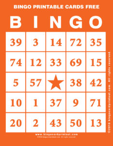 Bingo Printable Cards Free 2
