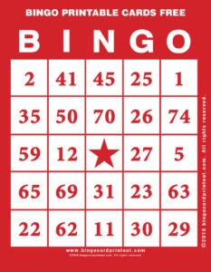 Bingo Printable Cards Free