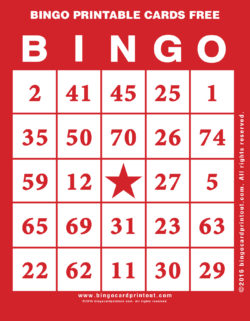 Bingo Printable Cards Free