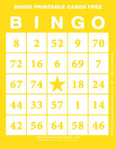 Bingo Printable Cards Free 3