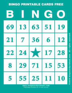 Bingo Printable Cards Free 5