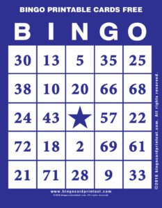 Bingo Printable Cards Free 6