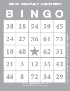 Bingo Printable Cards Free 9