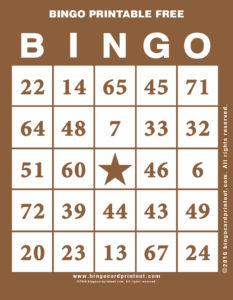 Bingo Printable Free 10