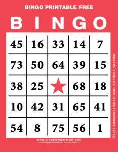 Bingo Printable Free 12