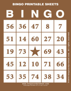 Bingo Printable Sheets 10