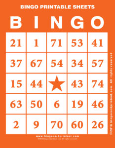 Bingo Printable Sheets 2