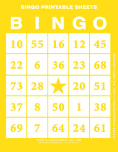 Bingo Printable Sheets 3