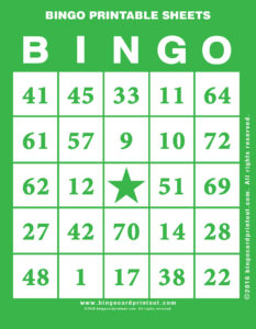 Bingo Printable Sheets 4
