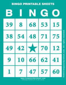 Bingo Printable Sheets 5