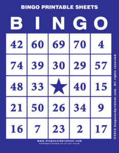 Bingo Printable Sheets 6