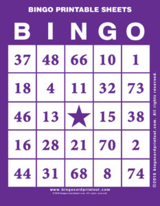 Bingo Printable Sheets 7