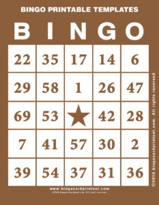 Bingo Printable Templates 10