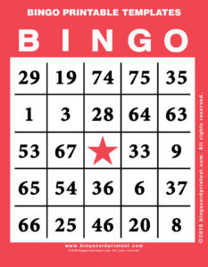 Bingo Printable Templates 12