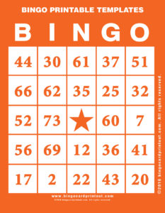 Bingo Printable Templates 2