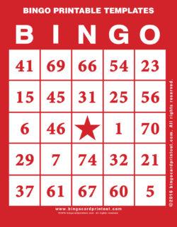 Bingo Printable Templates